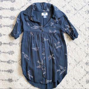 Old Navy bird print dress